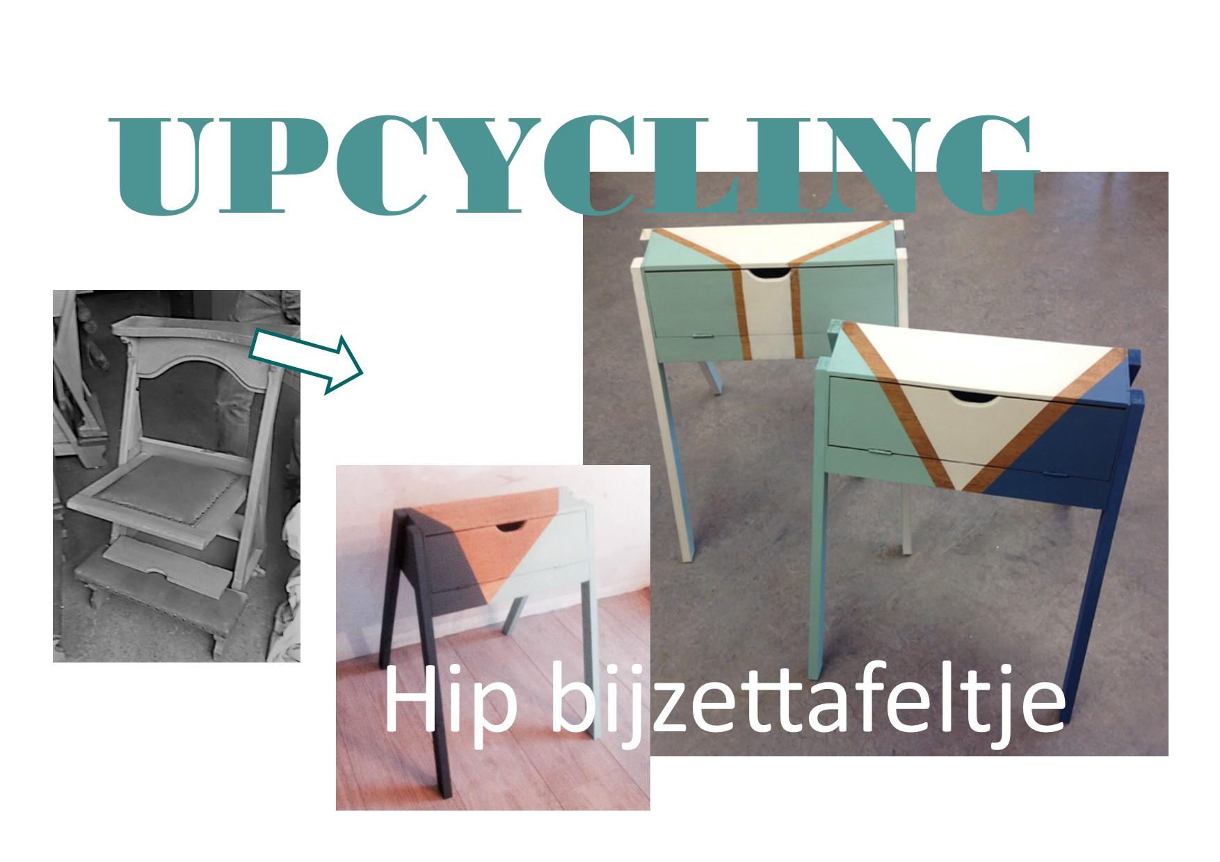 UpcyclingWorkshop: oude Kerkstoel wordt Hip tafeltje